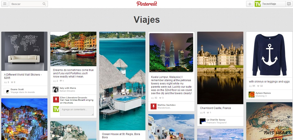 Pins de Viajes Pinterest