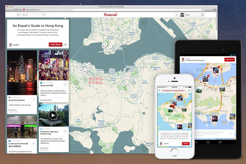 Pinterest se suma a los viajes
