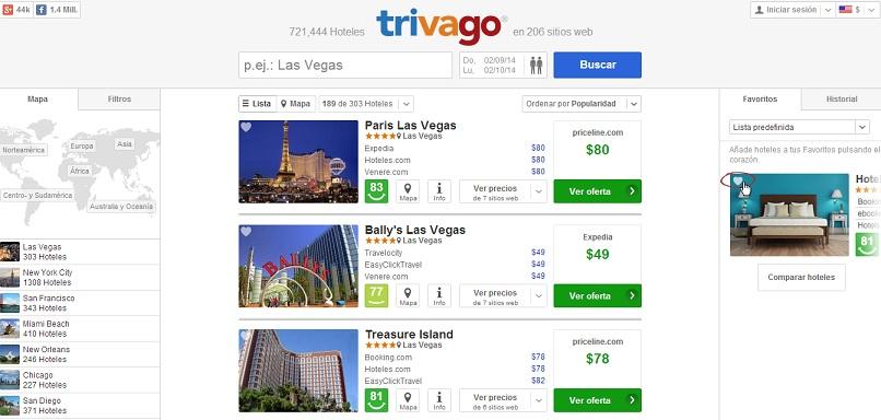 Trivago hotel finder