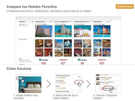 Comparar hoteles con Trivago
