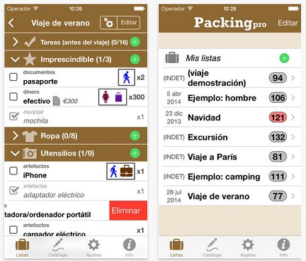 Packing Pro para IOS