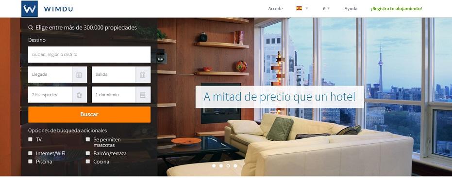 Wimdu Home Page