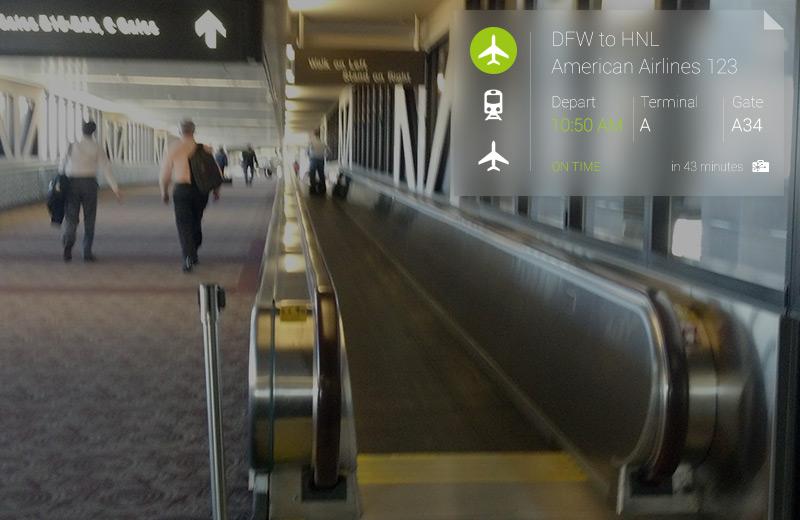 TripIt para Google Glass