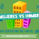 Mujeres Vs hombres en hoteles