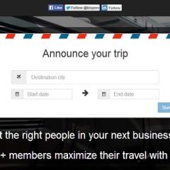 ¿Viaje de negocios? Bizpora te ayuda a conocer la gente adecuada.