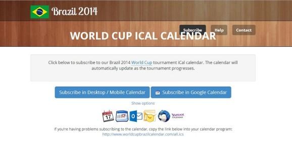 Fixture del Mundial en tu calendario