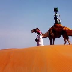 Google utiliza un camello como un auto de Street View